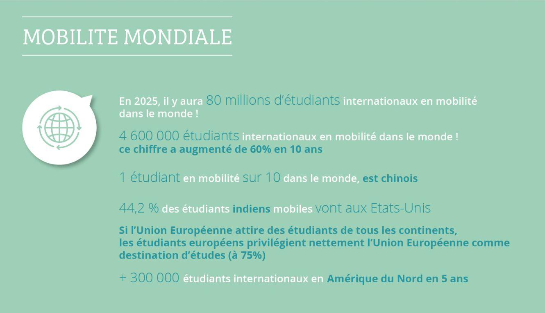 Mobilité étudiante : destinations préférées et pays de provenance